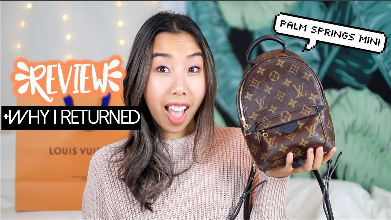 e5a890633a0a Louis Vuitton Palm Springs Mini Backpack Review +Why I Returned It ...