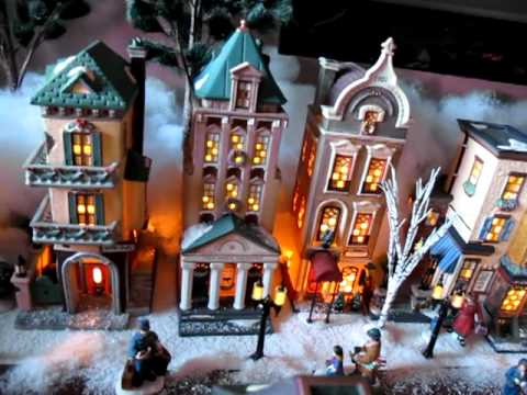 larrys dept 56 christmas in the city display youtube