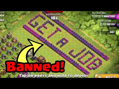 Thumbnail: Top 25 BANNED Base Designs (Sexual/Troll) In Clash of Clans!