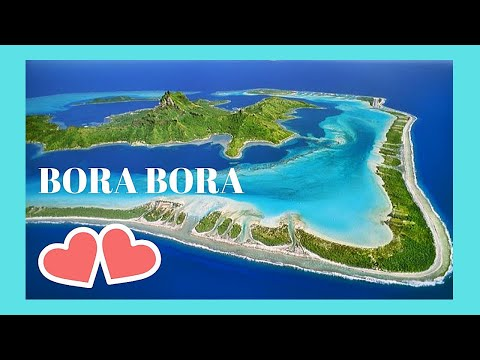 BORA BORA, taking-off from the 'Pearl of the Pacific' island, spectacular views below