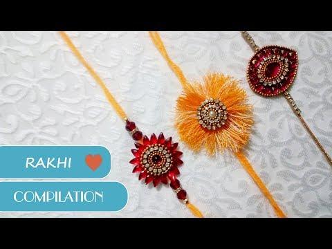 RAKHI Making Compilation PART 1 | How To Make Rakhi at Home 2018 | Rakhi banane ka tarika