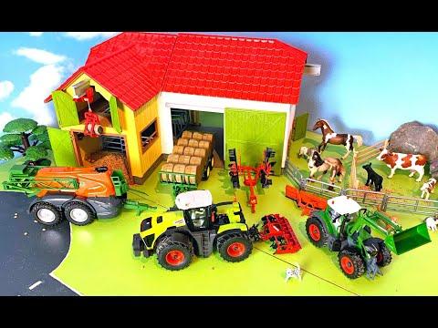 Trecker & Traktor - Bauernhof Fahrzeuge & Tiere - Bauernhof Kinder - Farm Vehicles for Kids