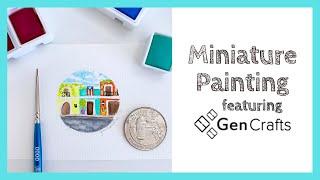 Genuine Crafts 48 Watercolor Palette Demo - Old San Juan Puerto Rico  #PR #watercolor #genuinecrafts