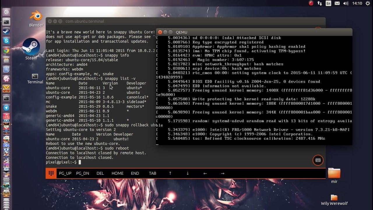 Snappy Ubuntu Core Rollback And Update Youtube