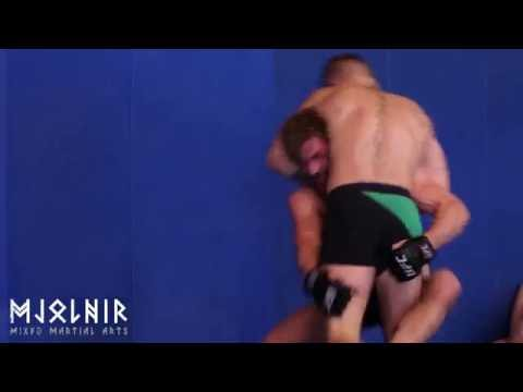 Conor McGregor and Gunnar Nelson wrestling in Mjolnir (2016)