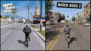 Gta 5 vs Watch Dogs 2 | Side by Side | COMPARISON |