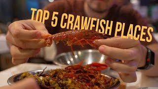 """Top 5 """"Must Eat"""" Places for Crawfish in Houston // Houston, TX"""