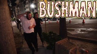 BUSHMAN AT NIGHT - Filming at Hockey game with FREDSPECIALTELEVISION