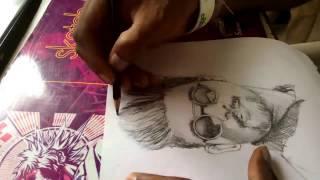timelapse Allu Arjun fast drawing  portrait