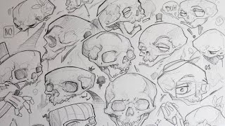 How to draw skulls (quick and easy)
