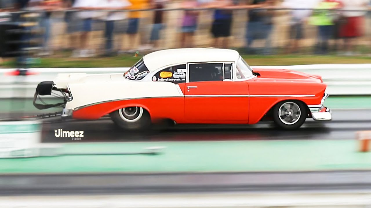 TWIN TURBO! 7.03@200.17MPH! JOE BARRY\'S \'56 CHEVY 210! \'15 HOT ROD ...