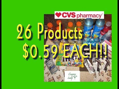 CVS 8/13/17 Coupon Haul for Only $0 59 per...