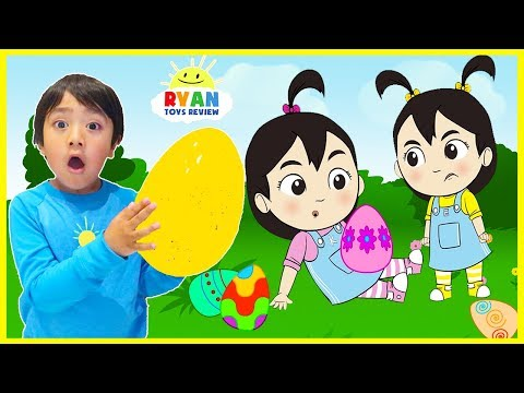 Easter Egg Hunt Surprise For Kids With Ryan, Emma, Kate | Cartoon Animation For Children