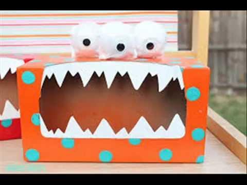 Manualidades con cajas de cart n para ni os 5 youtube - Cajas decoradas para bebes ...