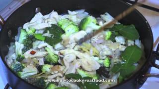 Asian Chicken & Pineapple Cooked With Coconut Milk & Thai Lime Leaves Recipe
