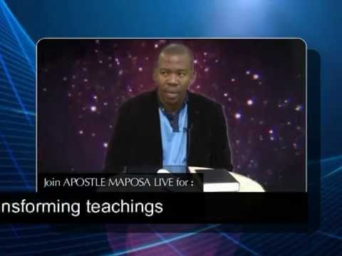 Apostle Maposa : prophesying to people LIVE ON TV.