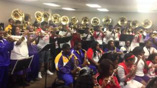 oak park high school rehearsing with miles college pmm 2014