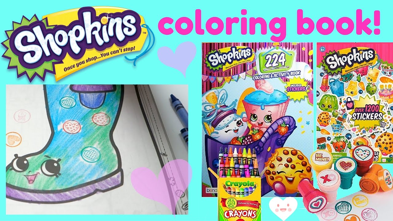 Where to buy shopkins coloring book - Shopkins Coloring Stamper Activity Book Set Let S Color 3 Shopkins Cupcake Boot Phone