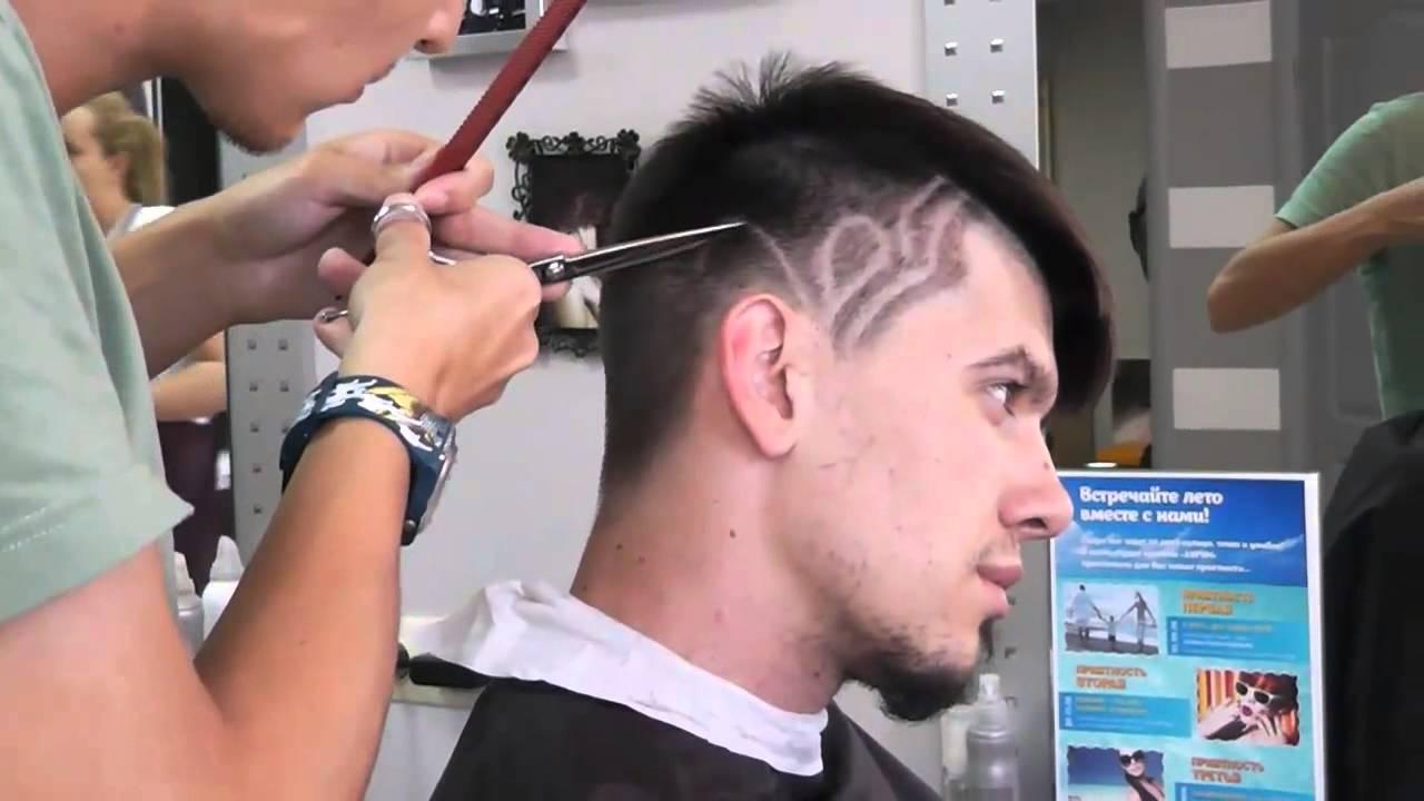 рисунки на волосах машинкой фото