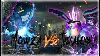 ROBUX WAGER MATCH!! THESALEHM121 VS MOWZA ROBLOX Naruto RPG- Beyond  