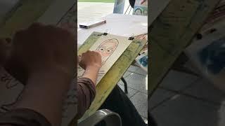 나눔대축제 방문미술 그림샘 캐리커쳐