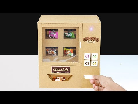 How to Make Mini Candy Vending Machine From cardboard! DIY Vending Machine