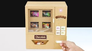 How to Make Mini Candy Vending Machine From cardboard! DIY Vending Machine