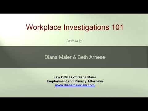 Lunchtime Legal Chat 5: Workplace Investigations 101, June 14, 2016
