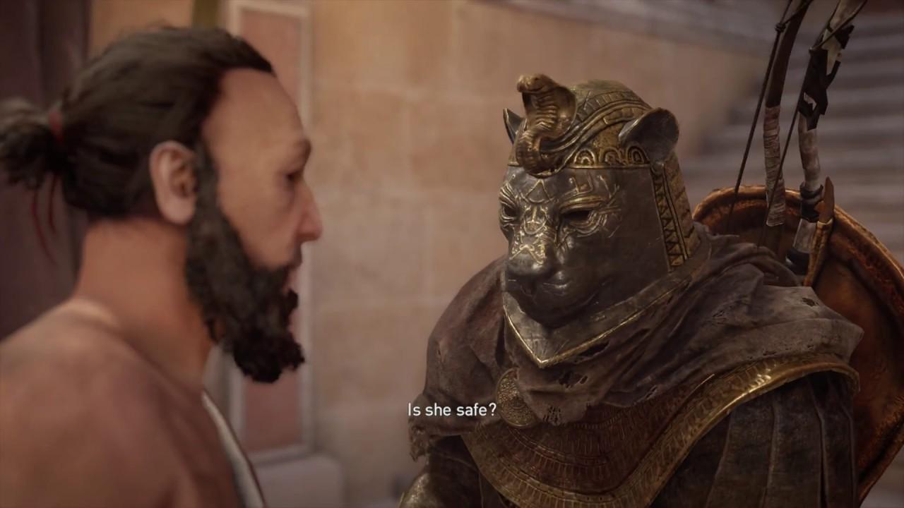 Assassin S Creed Origins Aya Meet Aya In Library Bayek Meets