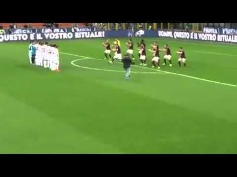 MILAN - HAKA (ballo degli All Blacks) prima di Milan-Carpi 21.04.2016