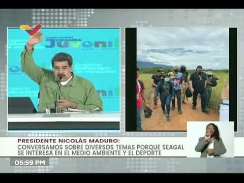 """Maduro filmará con Steven Seagal película """"Nico: Ma'duro de tumbar"""" y muestra sus fotos en Canaima"""