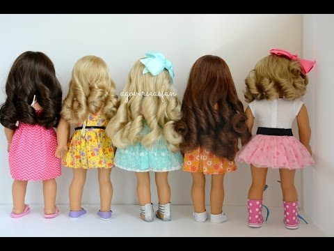 How to Curl American Girl Dolls Hair
