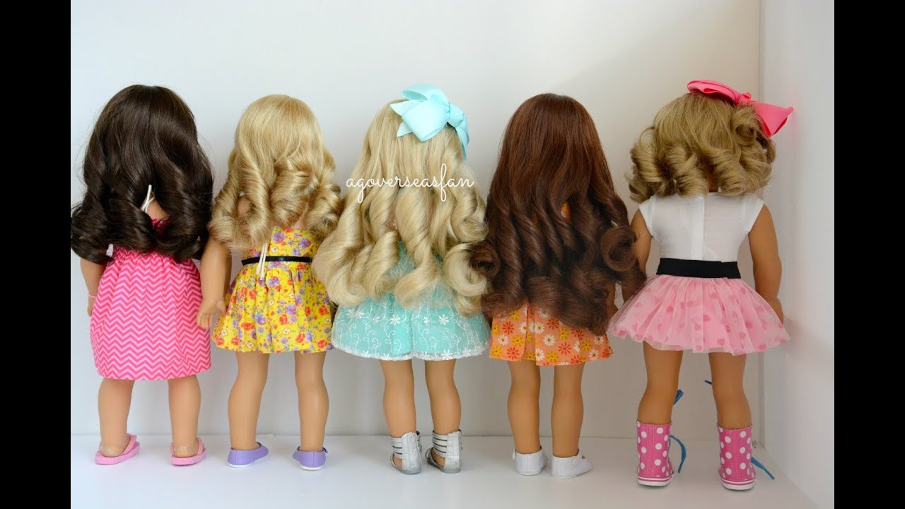 curl american girl dolls