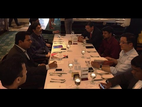 Brand Hyderabad -  IT Minister KTR Interacts With Vincent W.H Tong CEO FIH Mobile Group – Hybiz.tv
