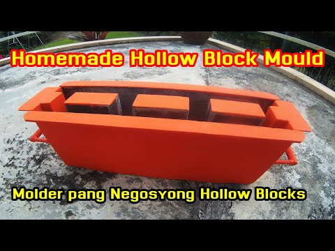 Homemade Hollow Block Mould | Molder Pang Negosyong Hollow Blocks