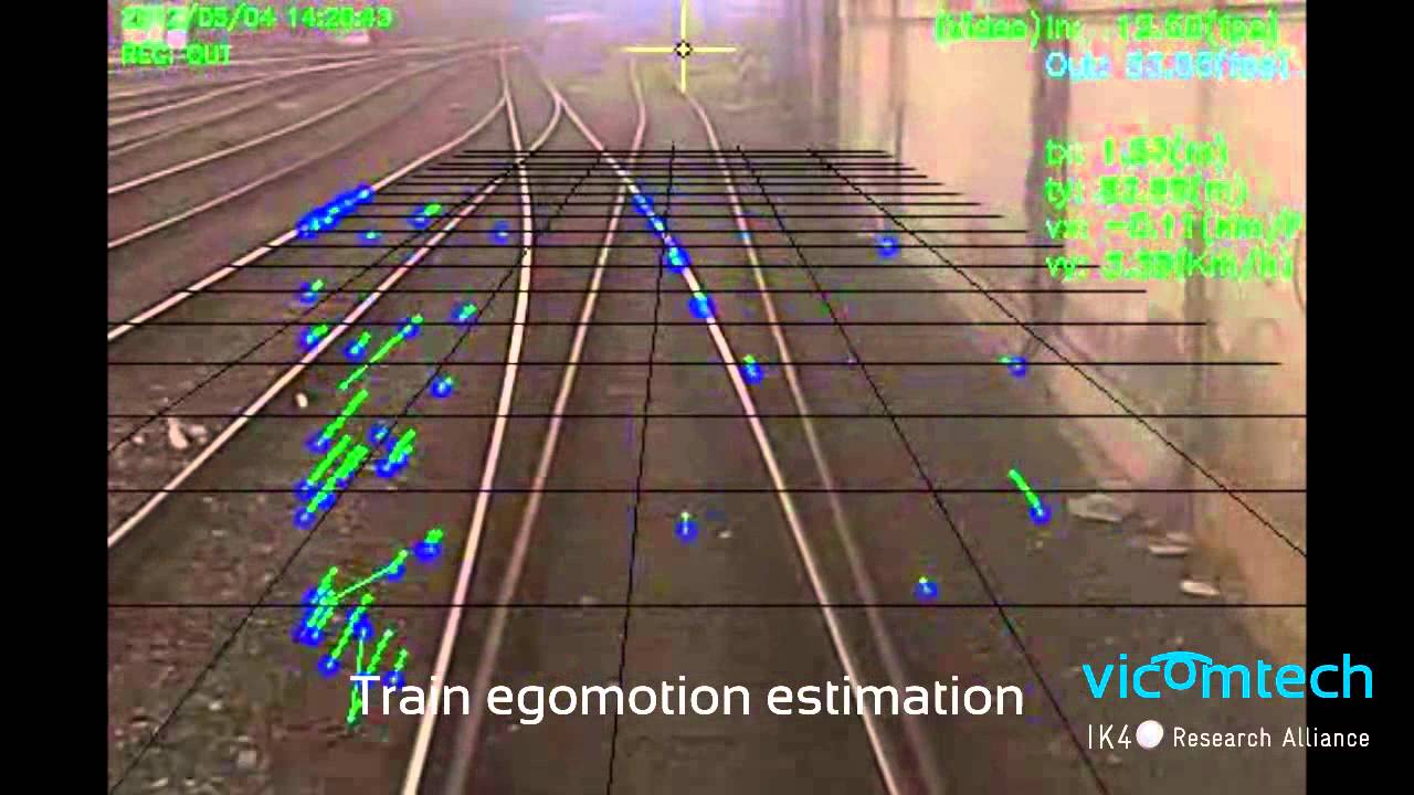 Real-time accurate egomotion estimation for trains using optical flow