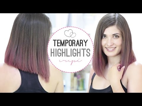 Temporary Highlights With Crepe Paper  YouTube