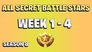 All Fortnite secret battle stars - week 1 to 4 - season 8