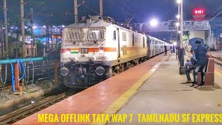 || MEGA OFFLINK!! || TAMILNADU EXPERSS || NEW DELHI - CHENNAI CENTRAL || DEPARTURE FROM VIJAYAWADA||
