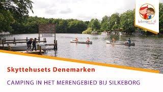 Skyttehusets Camping in het merengebied bij Silkeborg in Denemarken