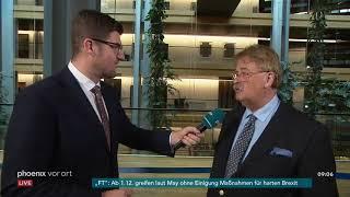 Interview mit Elmar Brok zu den Brexit-Verhandlungen im EU-Parlament am 14.11.18