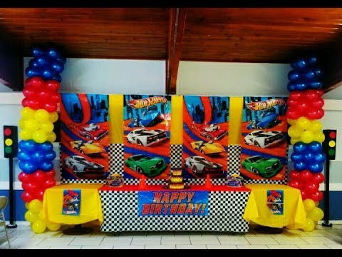 Fiesta de hot wheels 2017 party mesa de dulces adornos for Decoracion de cuarto hot wheels