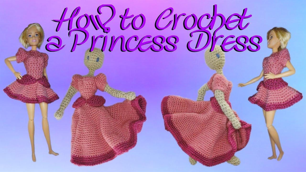 crochet princess dress tutorial part 1 youtube