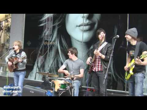 Wipeout - Move it - Cliff richard & the Drifters/ Shadows cover - Leeds city centre