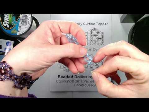 TT Doily Beaded Curtain Beading Tutorial - 1 needle - part 1