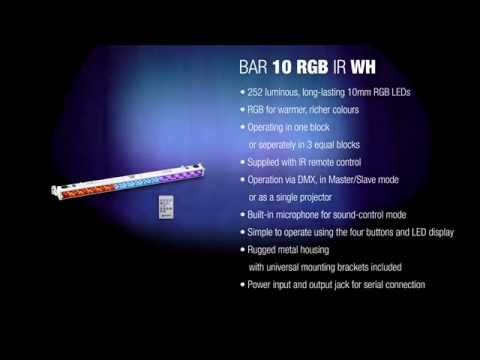 Cameo BAR 10 RGB IR - 252 x 10 mm LED RGB Colour Bar black with IR Remote Control