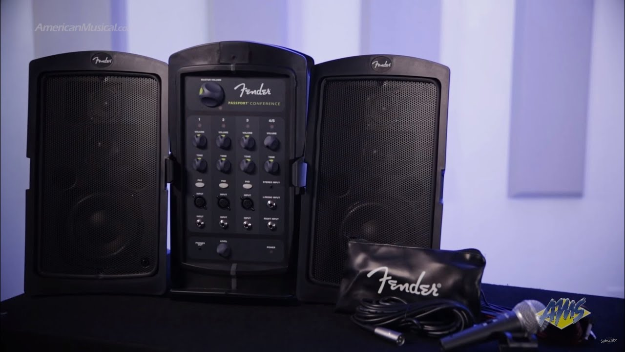 fender passport conference portable pa system fender passport conference youtube. Black Bedroom Furniture Sets. Home Design Ideas