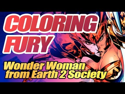 Coloring FURY (Wonder Woman Earth 2 Society) 2K