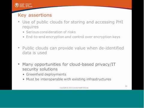 Webinar: Cloud Computing in Health - Privacy and Security Considerations