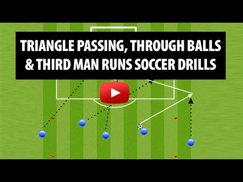 Triangle Passing, Third Man Runs And Moving Off The Ball Soccer Drills